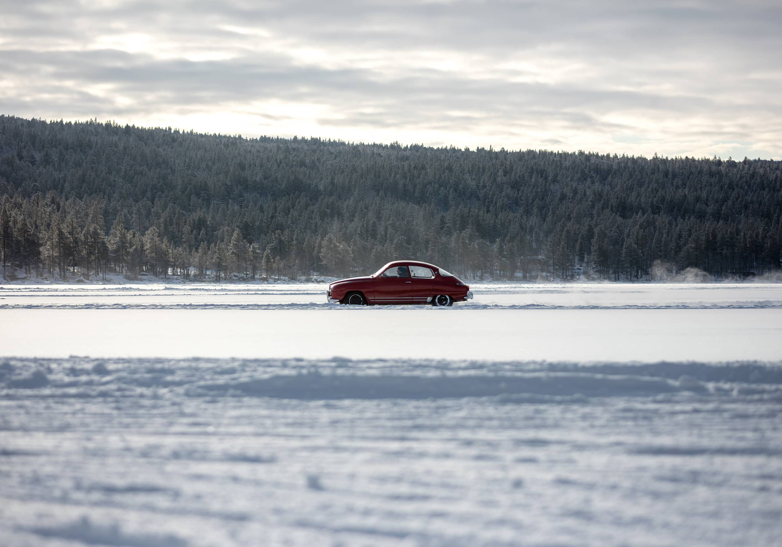 Kimm Saatvedt – SAAB ice-rally with GSV