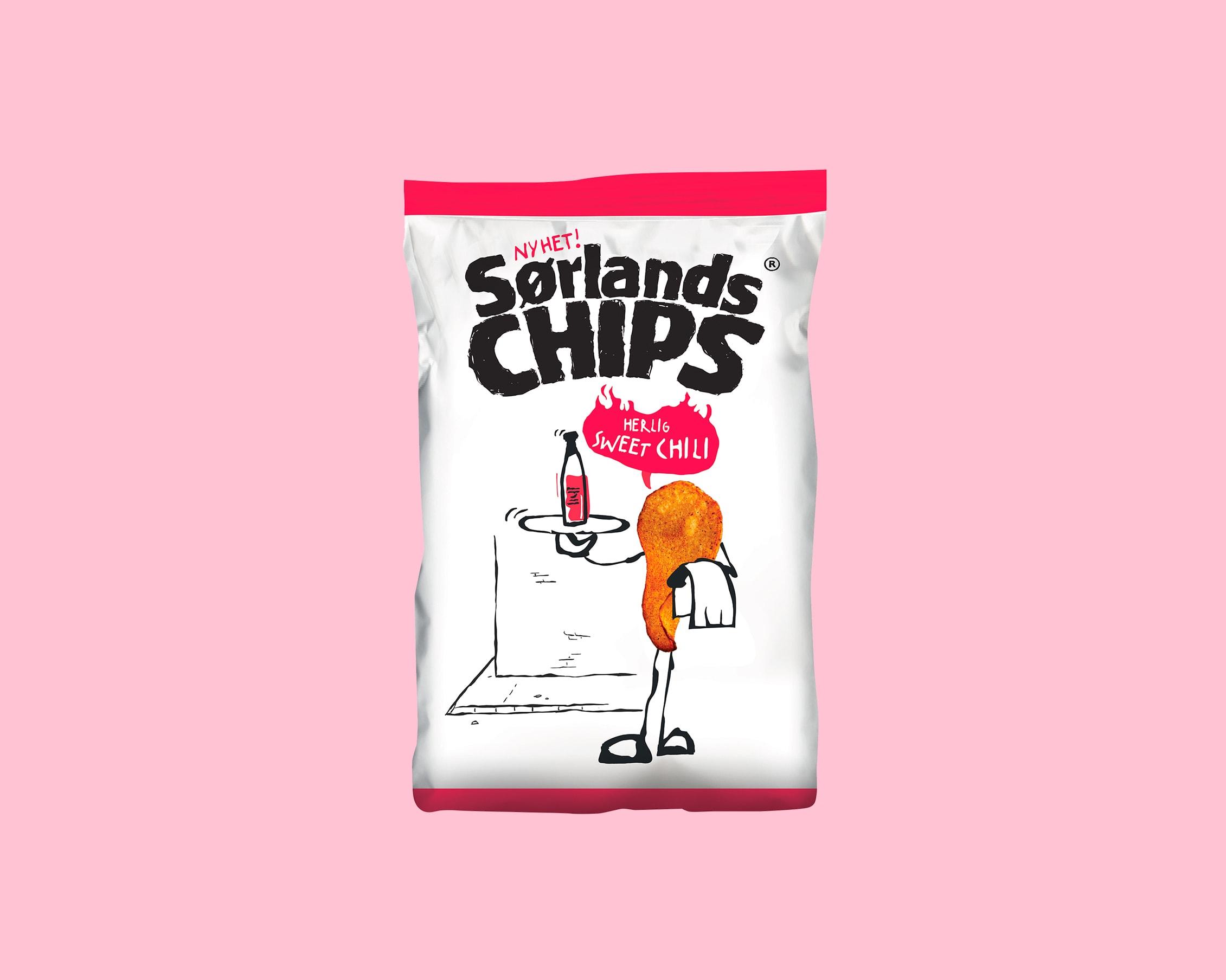 Veslemøy Vråskar – Sørlandschips emballasje